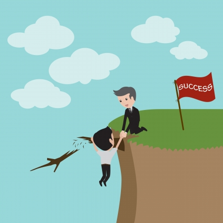 fiscal cliff: Cooperation Concept  Vector