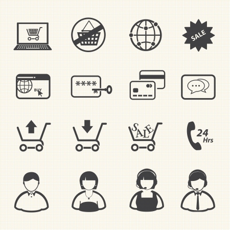 Shopping icon, Online shopping  Vector