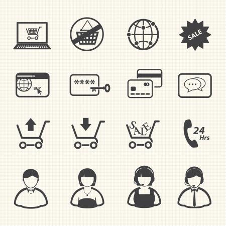 cash dispense: Shopping icon, Online shopping  Illustration
