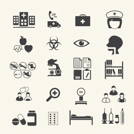 Medical Icons with texture background Vector