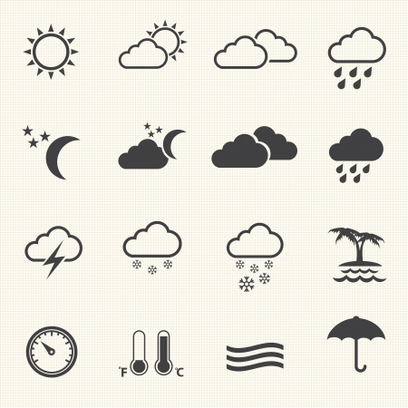 sun drop: Weather Icons with texture background
