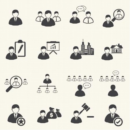 organizational chart: Leadership concept , Business management icons set