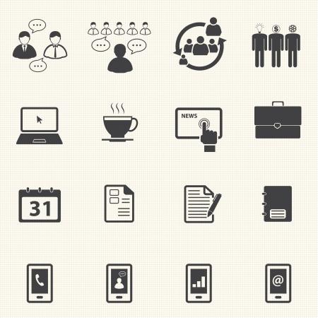 ビジネスやオフィスのアイコン セット  イラスト・ベクター素材