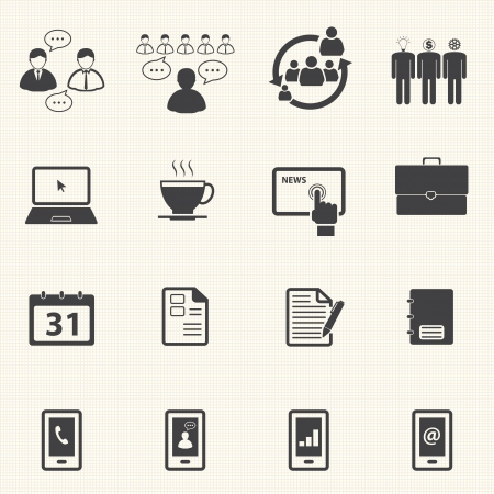 Business and Office Icons set Illustration