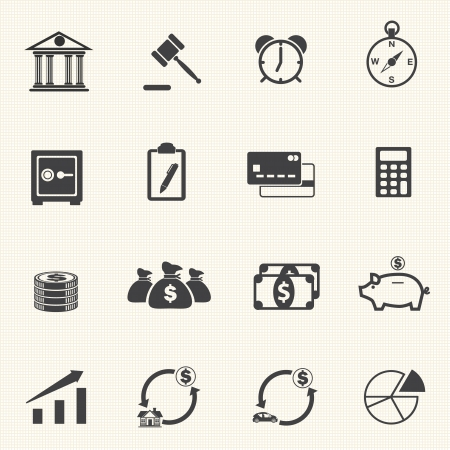 cent: Finance Icons with texture background