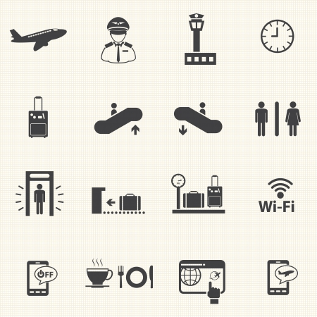 airport symbol: Airport icons set  Vector