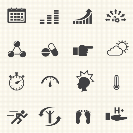 Vector Icon set relate to Healthy lifestyle