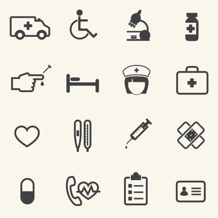 Medical icons set,   Illustration eps 10 Vector