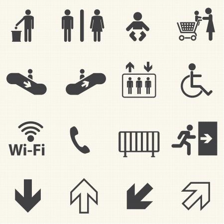 textury na pozadí: Veřejné ikony nastavit s textury pozadí Vektor