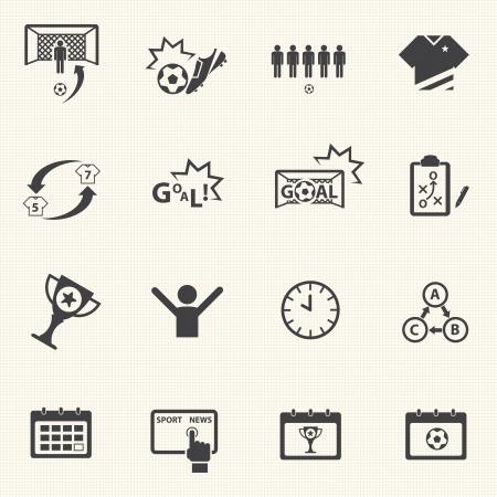 textury na pozadí: Fotbalové ikony set s texturou pozadí Vektor