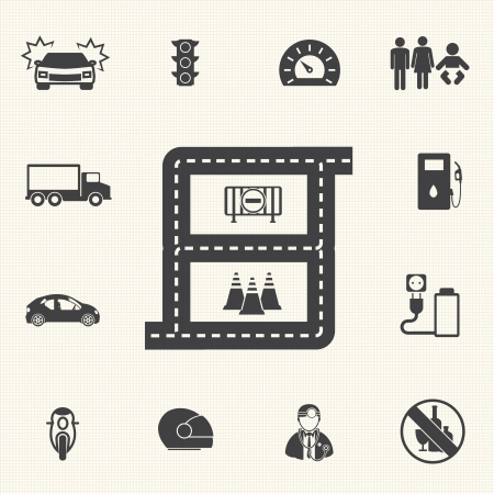 Drive safety icons for infographic  Vector icon set Иллюстрация
