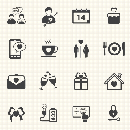 the first love: D�a de San Valent�n s y First Love Icons Vector icon set Vectores
