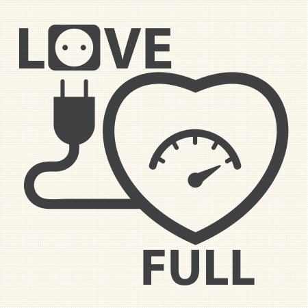Fill to the love  The Happiness moment  Vector Vector
