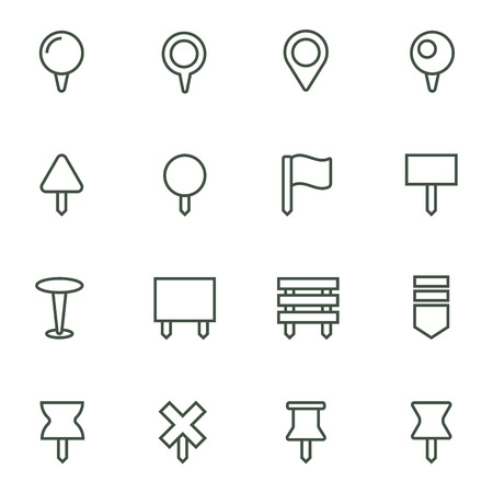 navigation icons: Navigation pins icons set