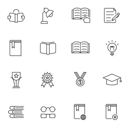 education icons: Education icons set