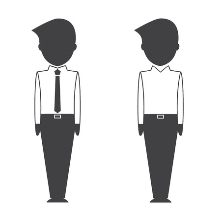 smart woman: Smart business people icons. Illustration