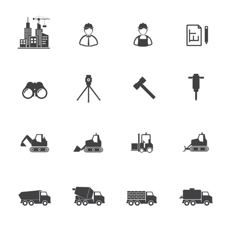 shaping: Construction equipment icons set