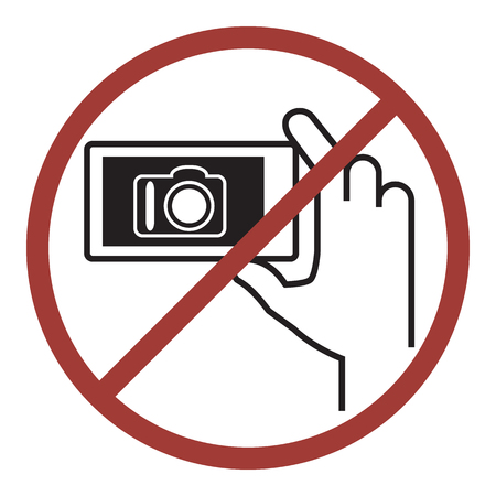 pubblico: No photography, Vector icon for public information sign