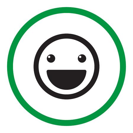 to laugh: Smile icon