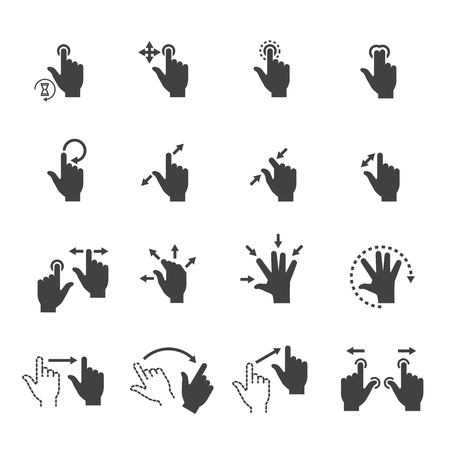 track pad: Gesture icons for touch devices