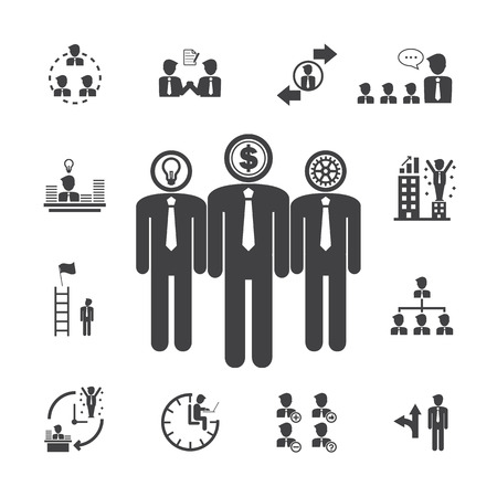 subsidiary company: Business Management icons