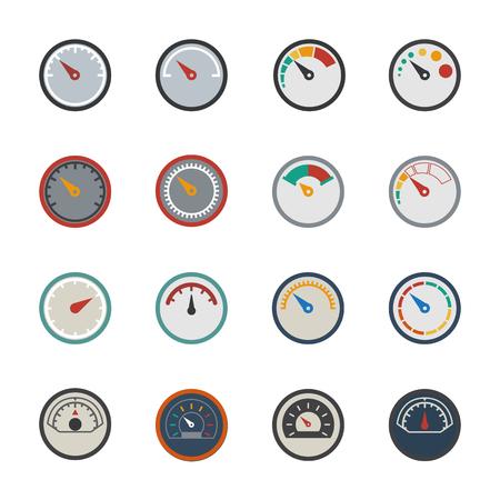 barometer: Circular gauges icons set