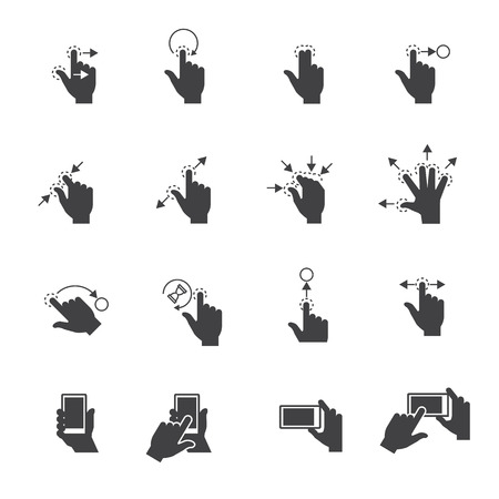 toque: Gesture icons for touch devices