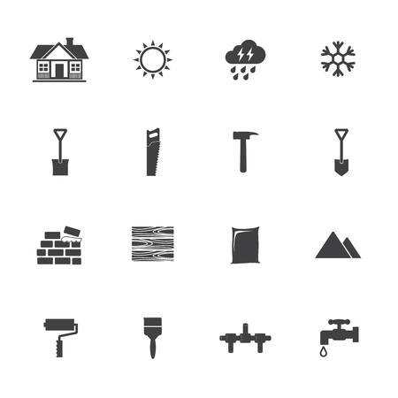 construction equipment: Construction equipment icons set