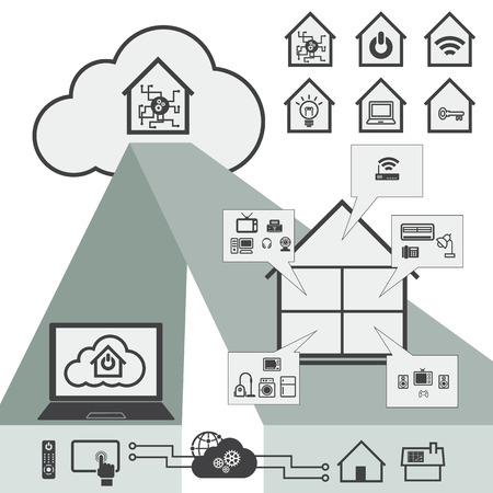 financial controller: Big Data icon set, Cloud computing technology