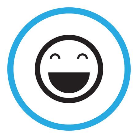 carita feliz caricatura: Icono de la sonrisa