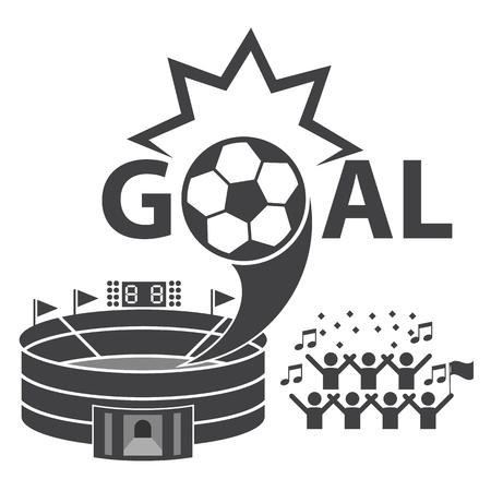 soccer goal: Goal, Winning soccer Illustration