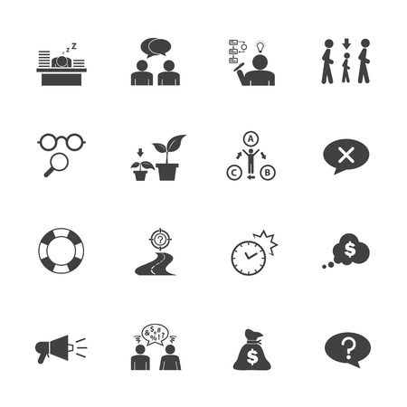 Business icon set, Personality traits Illustration