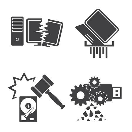 Gegevens van de computer Beschadigde Stock Illustratie