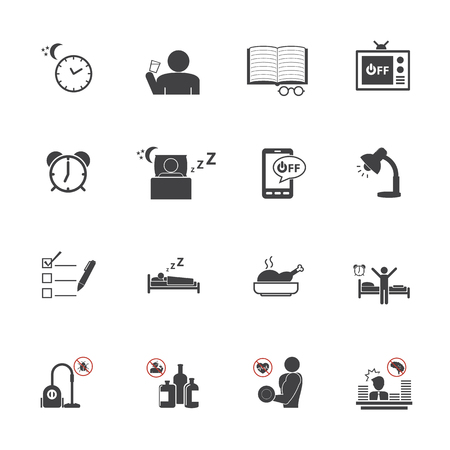 get up: Get Up Early, Daily routine icon set