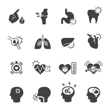 Multiple diseases and medical symbol, Vector icon