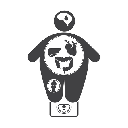 obesity: Obesity related diseases icons