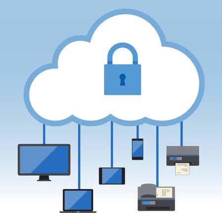 remote: Big Data, Cloud computing concept, Vector Flat design