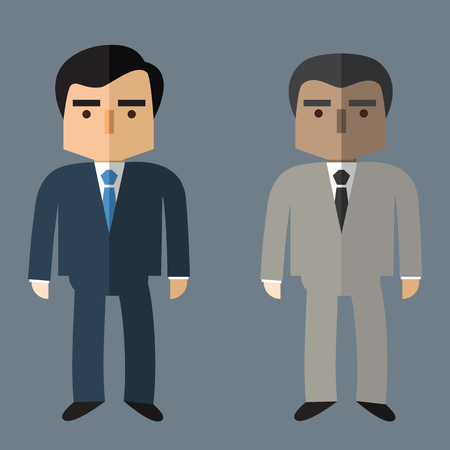 character of people: Character Business people Flat design