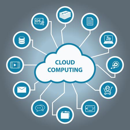 public folder: Big Data icon set, Cloud computing concept, Flat design