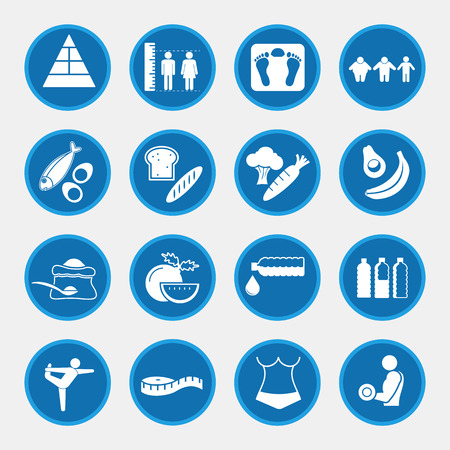 nutrition icon: Food nutrition and diet icon set