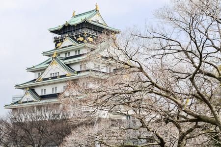 osakajo: Osaka Castle in Osaka city, Japan Stock Photo