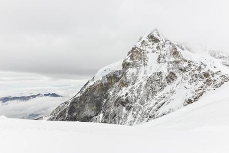 Jungfraujoch or Jungfrau Top Of Europe, Swiss Alps range Scenic near Interlaken, Switzerland Stock Photo