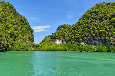 Koh Hong island is famous tour lagoon in andaman sea ,Krabi province, Thailand