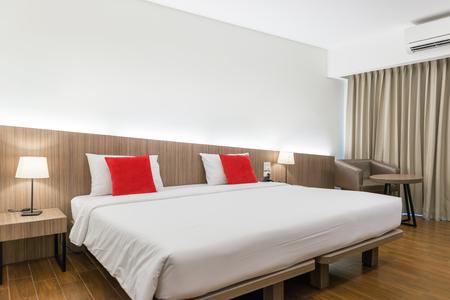 hotel bedroom: Interior of modern comfortable hotel room