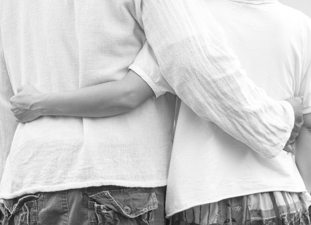 newlywed couple: couple romantic in love Stock Photo