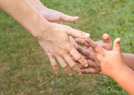 reaching hands: twee katachtige, zus en broer