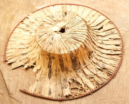 thai style: old thai style bamboo hat Stock Photo