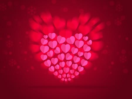 バレンタインの日に抽象的な背景は赤ソフトの色。