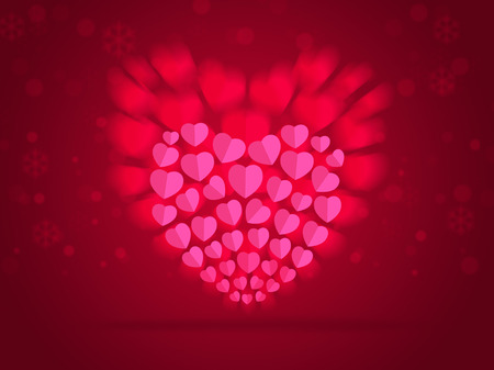 Red Soft colored abstract background for valentines day.