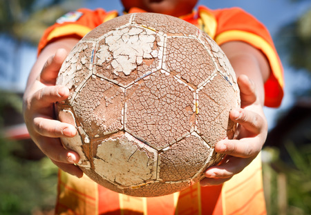 let go: Let go to play soccer. Stock Photo